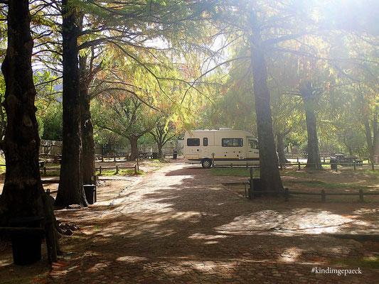 Ein ganzer Campingplatz für uns.