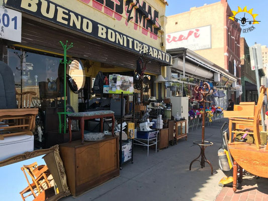 Ladenstraße im Zentrum von El Paso.