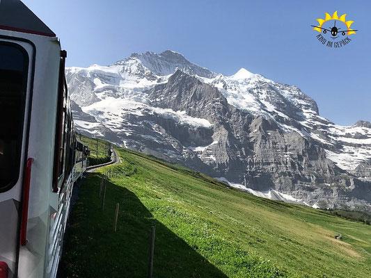 Ausblick von der Jungfraujoch-Bahn