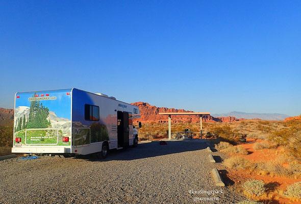 Campsite auf dem Atlatl Rock mit grandiosem Ausblick