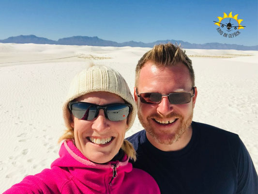 Schneeweißer Sand im White Sands.