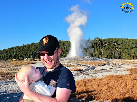 "Vor dem ""Old Faithful"""