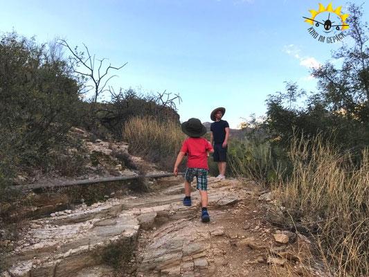 Der Bluff Trail ist sehr felsig, bietet ber tolle Ausblicke.