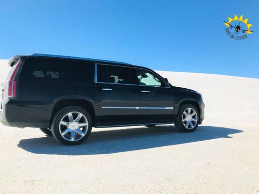 Auf Sand fahren im White Sands Nationalmonument.