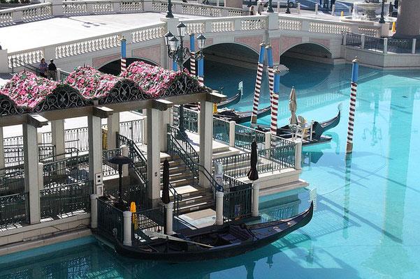 Gondeln im Venetian in Las Vegas