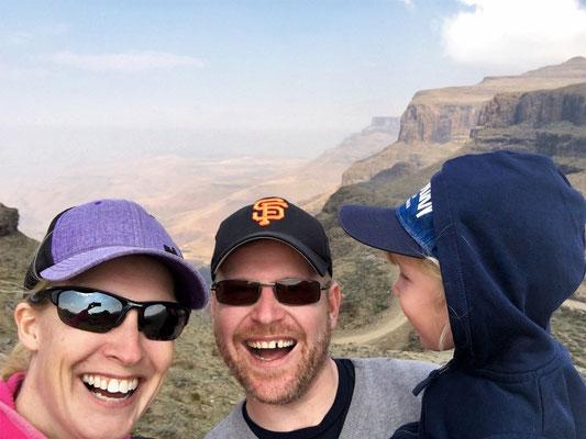 Lesotho - der Sani Pass mit Familie.