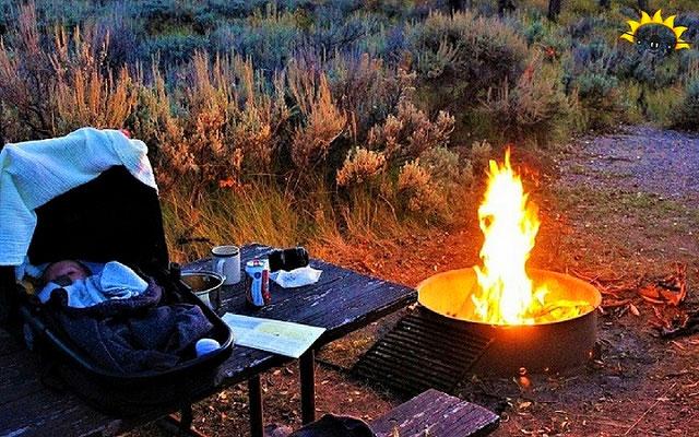 Camping auf dem Gros Ventre