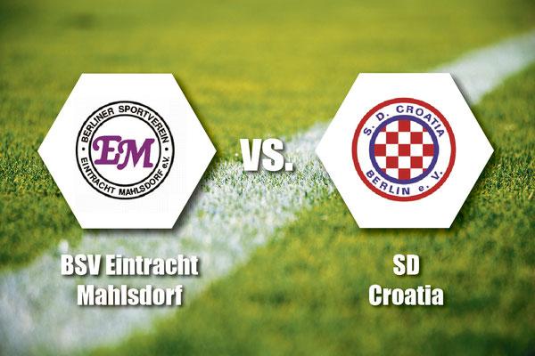 So, 19. Mai, 14.15 Uhr: Der BSV Eintracht Mahlsdorf empfängt zu Hause SD Croatia. Sportplatz Am Rosenhag (Melanchthonstraße 53 D, 12623 Berlin)