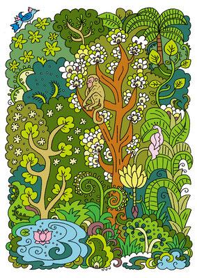 オリジナルイラスト「Forest」2011
