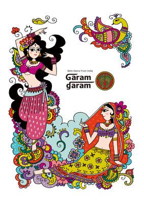 ベリーダンスショップGaram garamカタログイラスト 2012