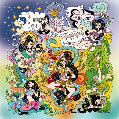 オリジナルイラスト「Shakti Mandala」2016