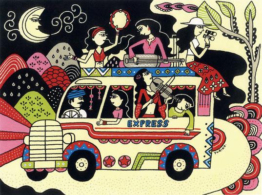 オリジナルイラスト「Midnight Caravan」2007