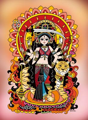 オリジナルイラスト「Ma Durga」2016
