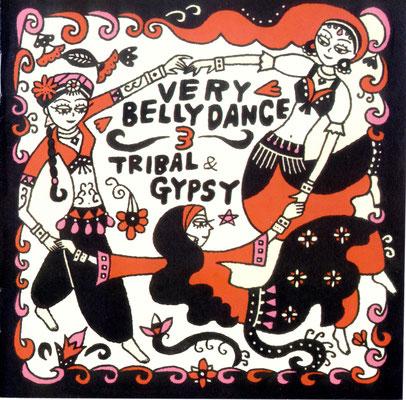 CDジャケット「Very Belly Dance 3」イラスト(アオラ・コーポレーション販売)2007