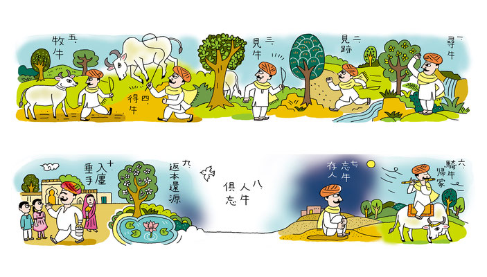 雑誌「Yogini」49号 ヨガ哲学特集イラスト 2015
