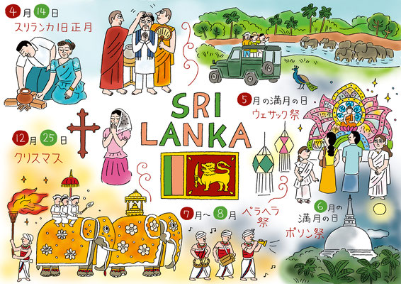 NHKBS1「アジア・クロスロード、カレンダーde旅アジア」スリランカ編 2010