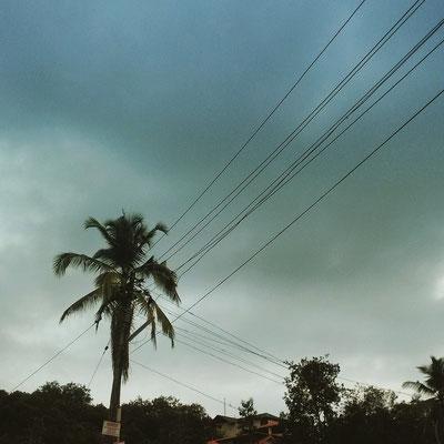 曇り空、雨の予感。