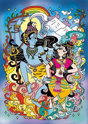 オリジナルイラスト「Shakti Dance」2015