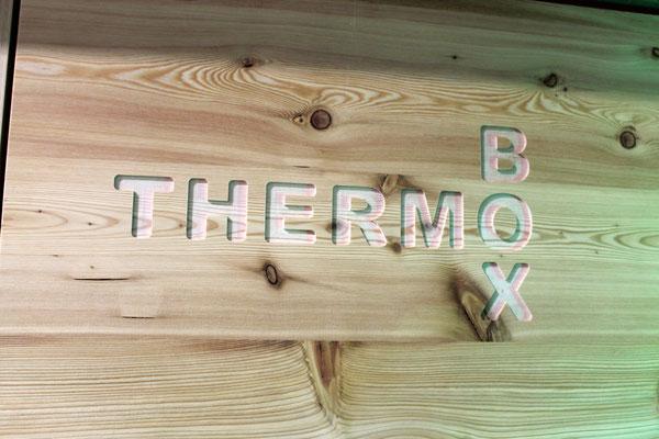THERMOBOX | Logo eingefräßt