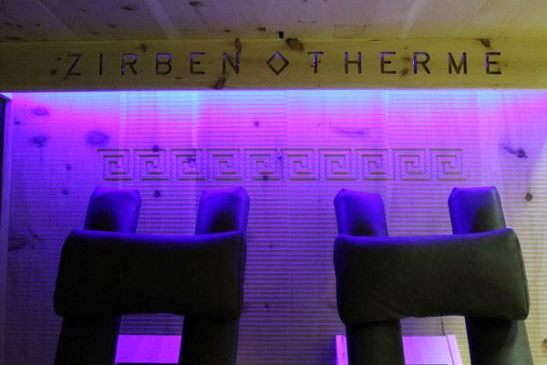 Infrarotkabine | Indirekte LED-Beleuchtung mit Farbwechsler