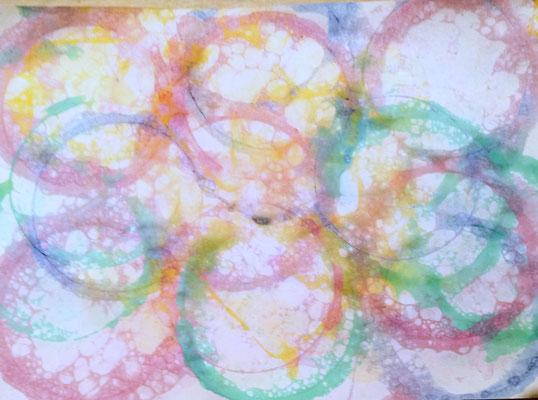 Seifenblasenmalerei