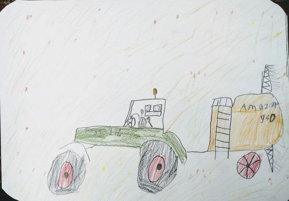 Traktorbild, inspiriert durch die umgebende Landschaft