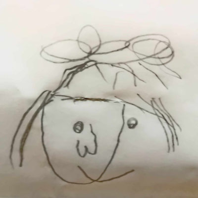 Mädchengesicht frei nach Picasso