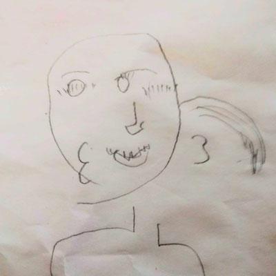 Gesicht frei nach Picasso
