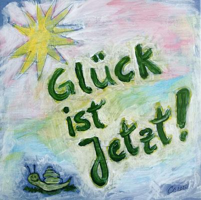 """Motivations-Fliese """"Glück ist jetzt!"""", Constanze Claus"""