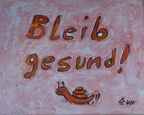 """""""Bleib gesund"""" Motivations-Fliese, Constanze Claus"""