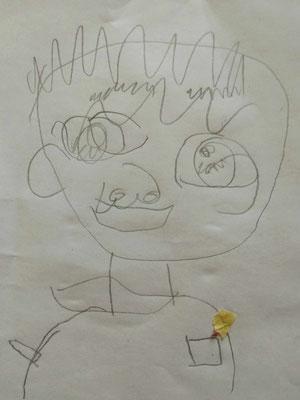 Jungengesicht frei nach Picasso