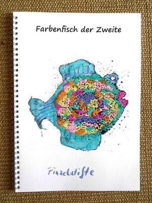 Farbenfisch der Zweite, Beispiel gemalt mit Aquarell-Pinselstiften