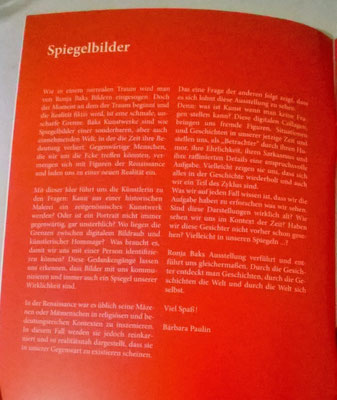Text for the Catalogue of the exhibition ``Zwischen Bildraub und digitaler Renaissance´´ of the artist Ronja Bak at the Kunstverein Wolfsburg, Germany, 2016