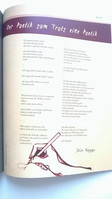 Illustration to the poem of Julia Ruegger for the NERV Magazine of the Hildesheim University, 1/16.