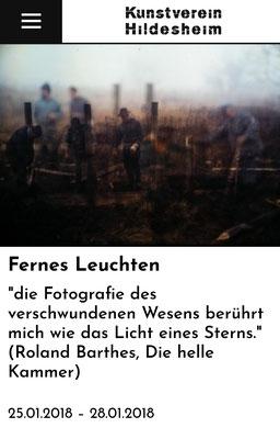 Exhibition ''Fernes Leuchten'' at the Kunstverein Hildesheim, 2018