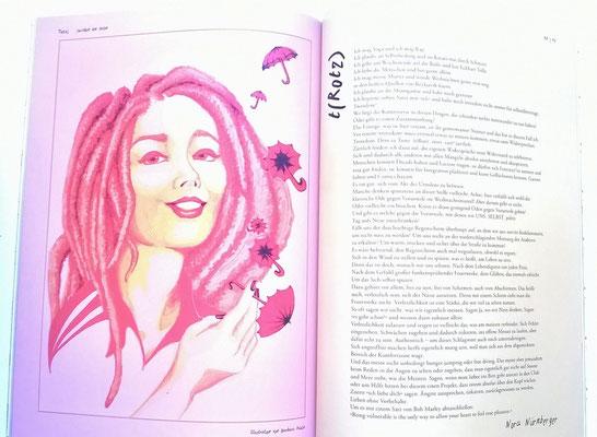 Illustration to the poem of Nora Nürnberger for the NERV Magazine of the Hildesheim University, 1/16.