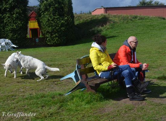 Kerstin, Thomas, Manolo (B-Wurf) und Shila