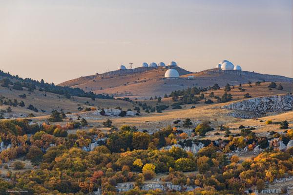 Долина Ай-Петри. Радары воинской части