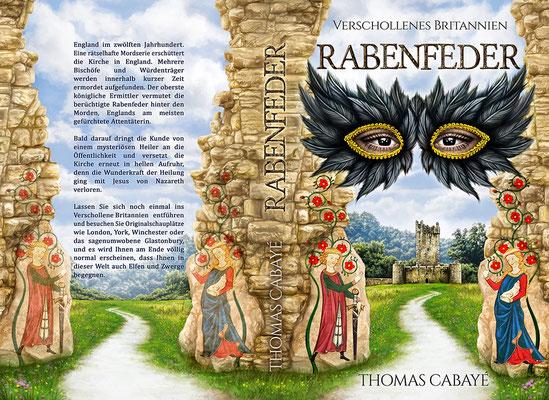 """Buchumschlagsgestaltung - Verschollenes Britannien """" Rabenfeder """" von Thomas Cabayé  / Fantasybuchcover"""
