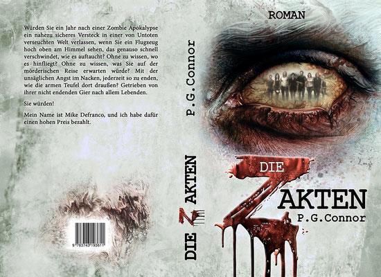 Buchumschlagsgestaltung - Die Z-Akten P.G. Connor  / Zombiebuchcover