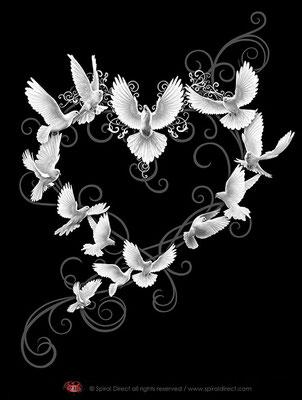 Illustration für spiral - doves heart © spiral direct all rights reserved / www.spiraldirect.com