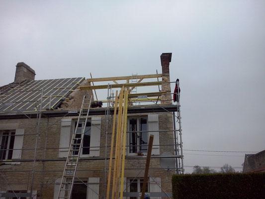 Rénovation maison, charpente à neuf