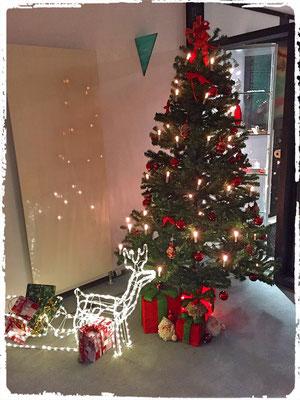 Der Weihnachtsbaum im Eingang verschaffte schon die erste Weihnachtsstimmung