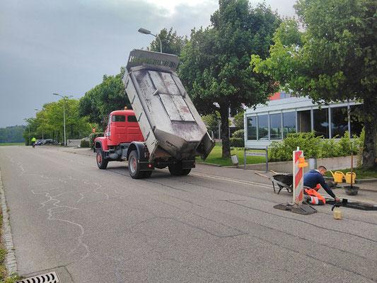 Belag Transport mit Thermosilo - Reusser Transporte AG Biberist