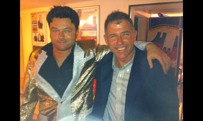 Melvis mit Regisseur Keith William Strandberg im Chillout Boswil AG 22. Oktober 2011