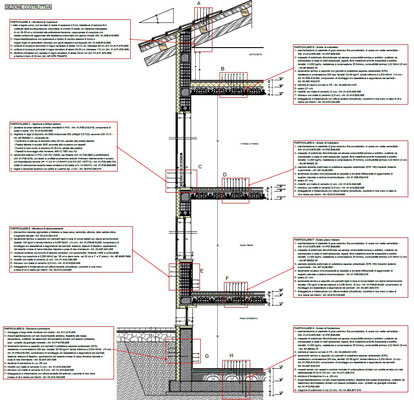 Palazzina via Sforzesca - Sezione costruttiva