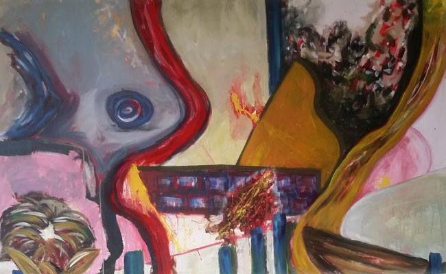 Ohne Titel Acryl auf Leinwand 100x150 cm Preis auf Anfrage