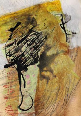 ohne Titel - Acryl auf Papier A4 verkauft