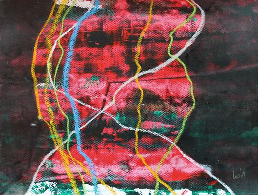 ohne Titel - Acryl auf Papier 30x40cm Preis auf Anfrage