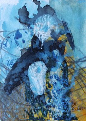 ohne Titel - AcrylMischtechnik auf Papier 10x15cm Preis auf Anfrage